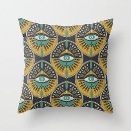 Tribal Evil Eye Pattern Throw Pillow
