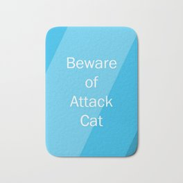 Beware of Cat Bath Mat
