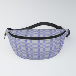 Blue Texture Check Pattern No.1 Fanny Pack