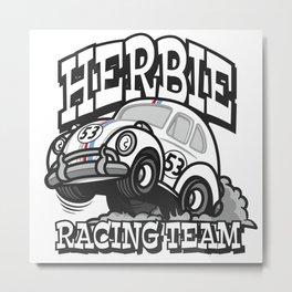 Herbie Racing Team (Big Daddy Style) Metal Print