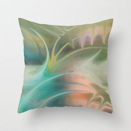 Smudged Colours 10 Throw Pillow