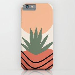 Desert Sunrise, Abstract, Minimal Art iPhone Case