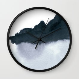 mountain scape minimal Wall Clock