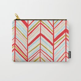 red chevron pattern Carry-All Pouch