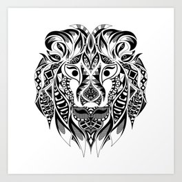 Mr Lion Ecopop Art Print