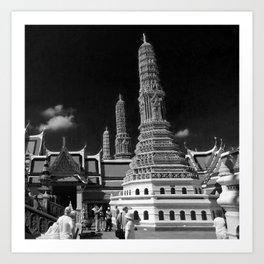 Wat prakaew,Bangkok Thaialnd Art Print