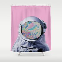 astronaut Shower Curtains featuring Astronaut by G-Fab