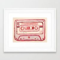 tape Framed Art Prints featuring tape by muskawo