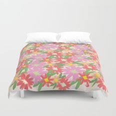 floral party Duvet Cover