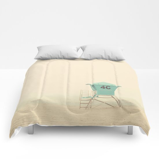 the sound of outer ocean on a beach ... Comforters