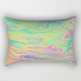 Retro Rainbow Rectangular Pillow