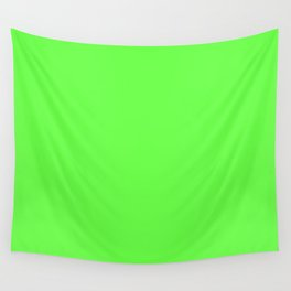 GREEN GECKO neon solid color  Wall Tapestry