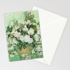 Vase with Pink Roses by Vincent van Gogh Stationery Cards