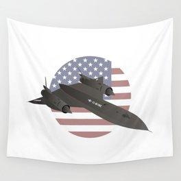 American SR-71 Blackbird Reconnaissance Aircraft Wall Tapestry