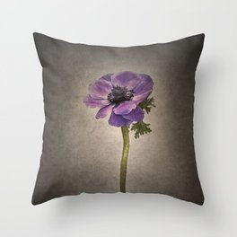 Graceful flower - Anemone coronaria | vintage style  Throw Pillow