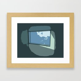 Sun Through Skylight Framed Art Print