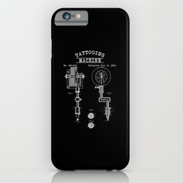 Retro Tattoo Machine | Tattoo Artist iPhone Case
