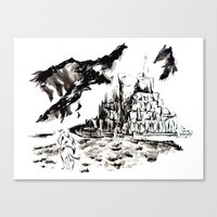 gondor Canvas Prints featuring Return of the King - Gondor, Gandalf by Knapp Ink
