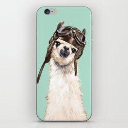Cool Pilot Llama iPhone Skin