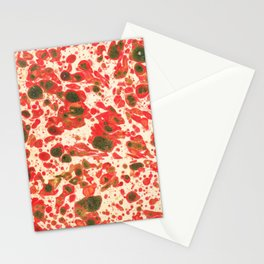 Colorful Christmas Holiday Marbling Stationery Cards