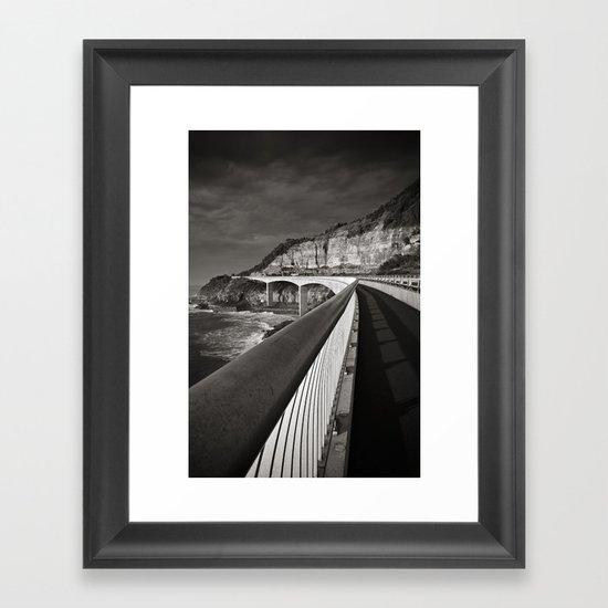 Sea Cliff Bridge Framed Art Print