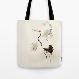 Oriental Red-Crowned Crane 002 Tote Bag