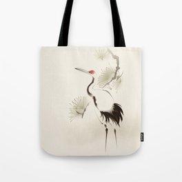Oriental Red-Crowned Crane 002 Tote Bag