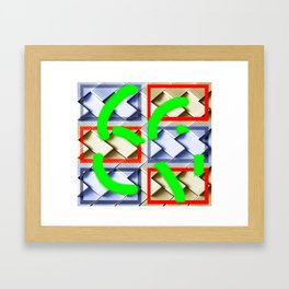 Collage with interlocking pieces Framed Art Print