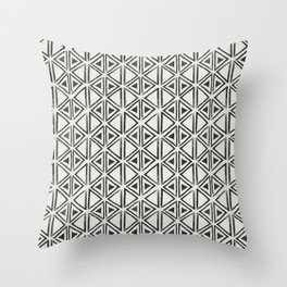 Block Print Diamond Throw Pillow