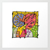 brasil Art Prints featuring Brasil by Ana Sanz Durán