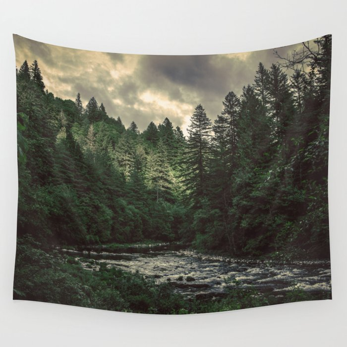 Pacific Northwest River - Nature Photography Wandbehang