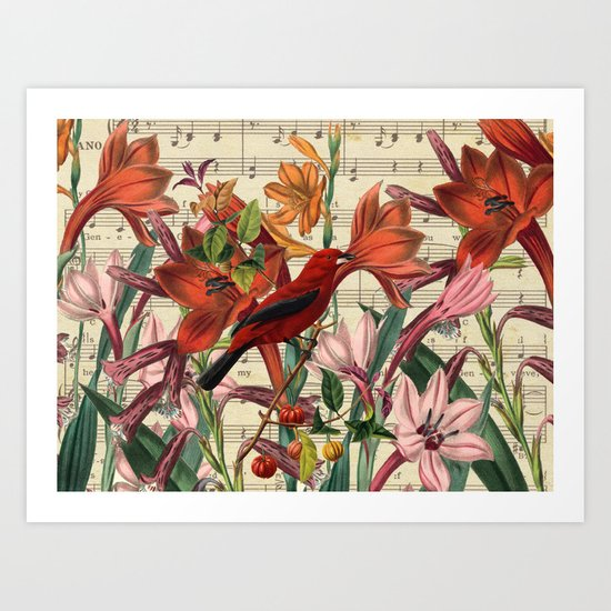 In Love With RED Art Print