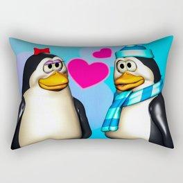 Penguin Romance Rectangular Pillow