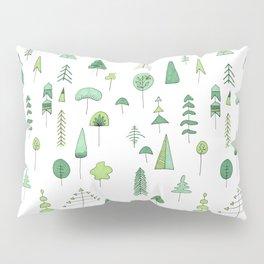 Green Trees Pillow Sham