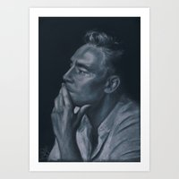 tom hiddleston Art Prints featuring Tom Hiddleston by Katy Harrison