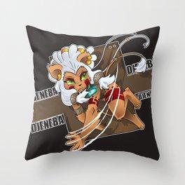 Chibi Djeneba Throw Pillow