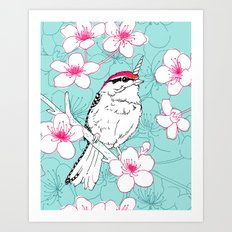 Uni-Chicka-Pecker Art Print
