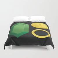 video game Duvet Covers featuring Video Game Money - Zelda, Mario, Sonic by The Potion Shop