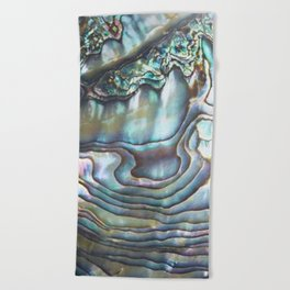 Shimmery Pastel Abalone Shell Beach Towel