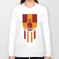 gryffindor Long Sleeve T-shirts featuring gryffindor crest by nisimalotse