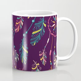 Bohemian Purple Dream Catcher Pattern Coffee Mug