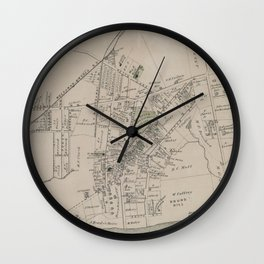 Vintage Far Rockaway NY Map (1873) Wall Clock