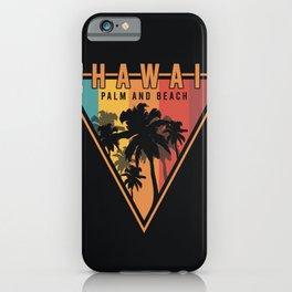 Hawai palm and sun iPhone Case