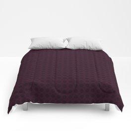Dark Merlot Wine Circle Pattern Comforters