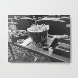 Movie Theaters (BW) Metal Print