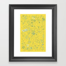 Super Mega Turbo Doodle Power Framed Art Print
