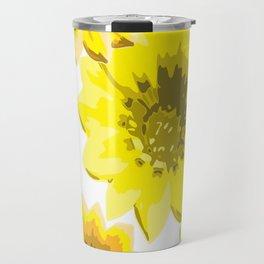 Retro Sunflowers Travel Mug