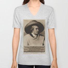 Vintage poster - Johann Wolfgang von Goethe Unisex V-Neck