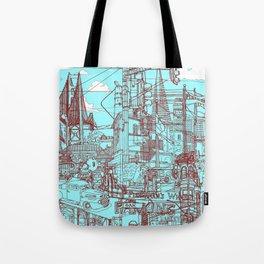 San Francisco! (Turquoise) Tote Bag