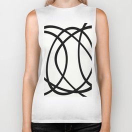 Community - Black and white abstract Biker Tank